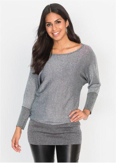 Люрексовый пуловер