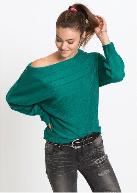 Пуловер с декоративной молнией