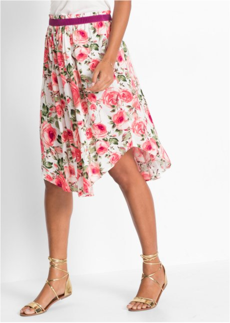Широкая юбка-миди