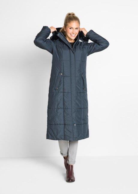 Легкая стеганая куртка длинного покроя