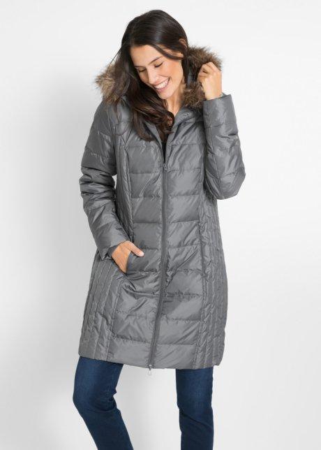 Пуховая куртка в стеганом дизайне