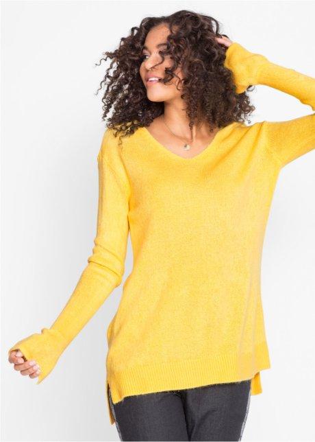 Пуловер покроя оверсайз с разрезом
