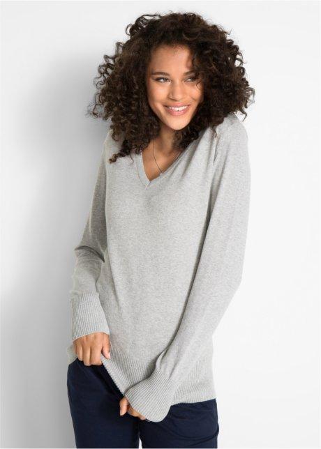 Пуловер тонкой вязки