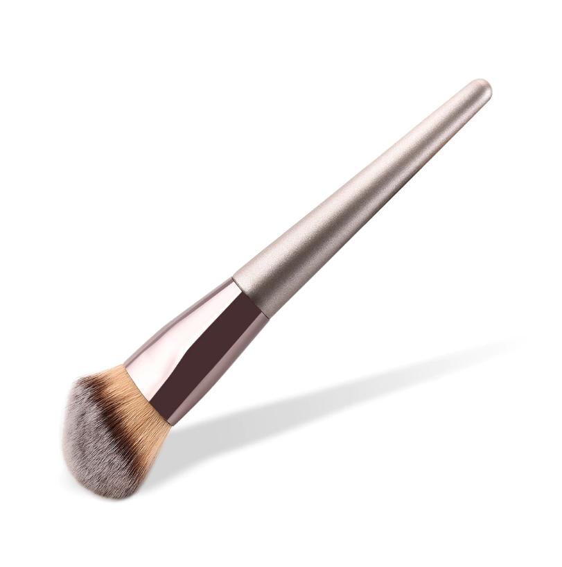 BBL 1 Stück Champagner Gold Präzision Flüssige Foundation Pinsel Perfekte Pro Verjüngt Polieren Sculpting Abgewinkelt Make-Up