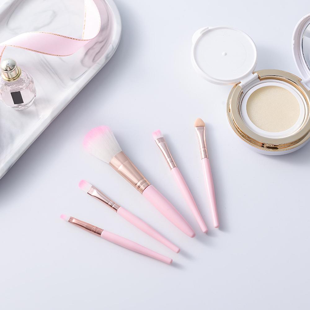 Pro 5Pcs Augen Make-Up Pinsel Set Lidschatten Eyeliner Augenbraue Erröten Power Gesichts Make-Up Kosmetische Werkzeuge